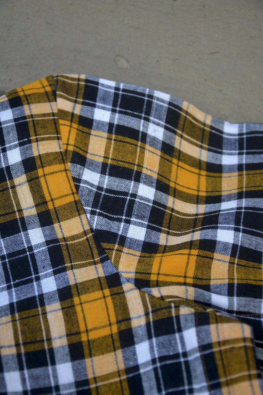 Yellow Madras Checks Saree Blouse. - metaphorracha
