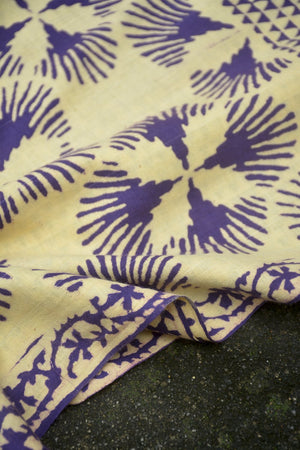 Discharge Printed Cotton Muslin Saree. - metaphorracha
