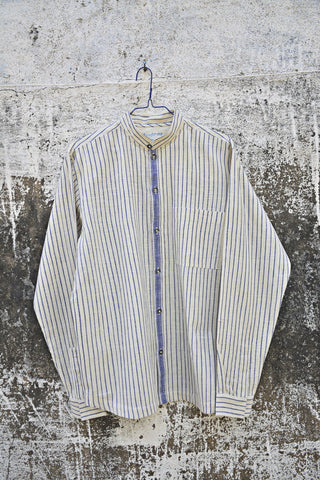 Blue Stripes Full Sleeves Shirt for Men