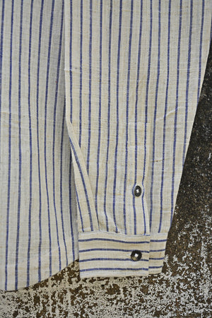 Blue Stripes Full Sleeves Shirt for Men - metaphorracha
