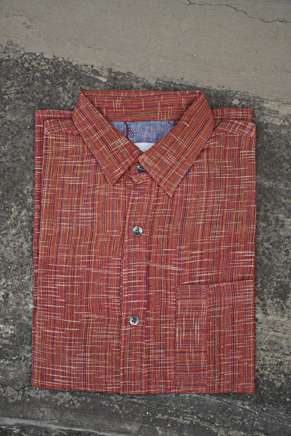 Rust Colour Full Sleeves Shirt for Men. - metaphorracha
