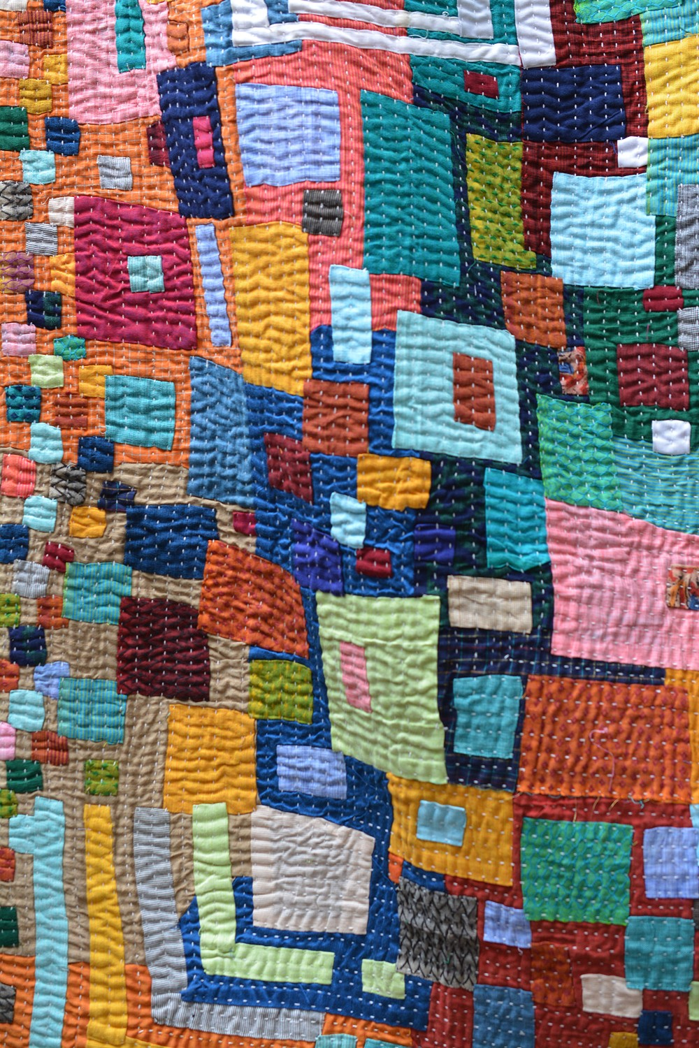 Discharge Printed violet colour Stole. - metaphorracha