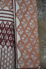 Block printed khadi muslin saree