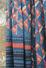 Hand block printed khadi saree