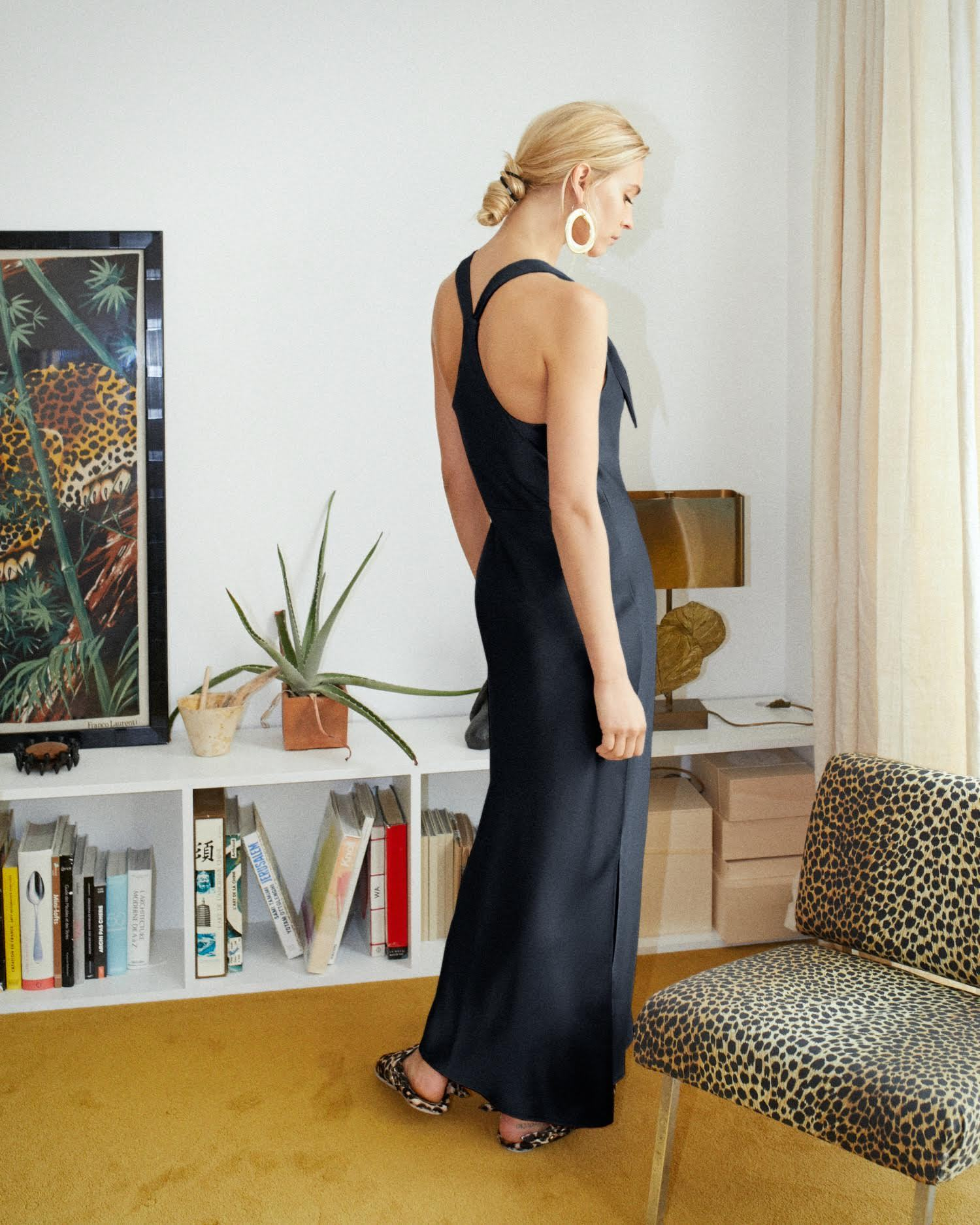 MARGOT - Slip dress - Black