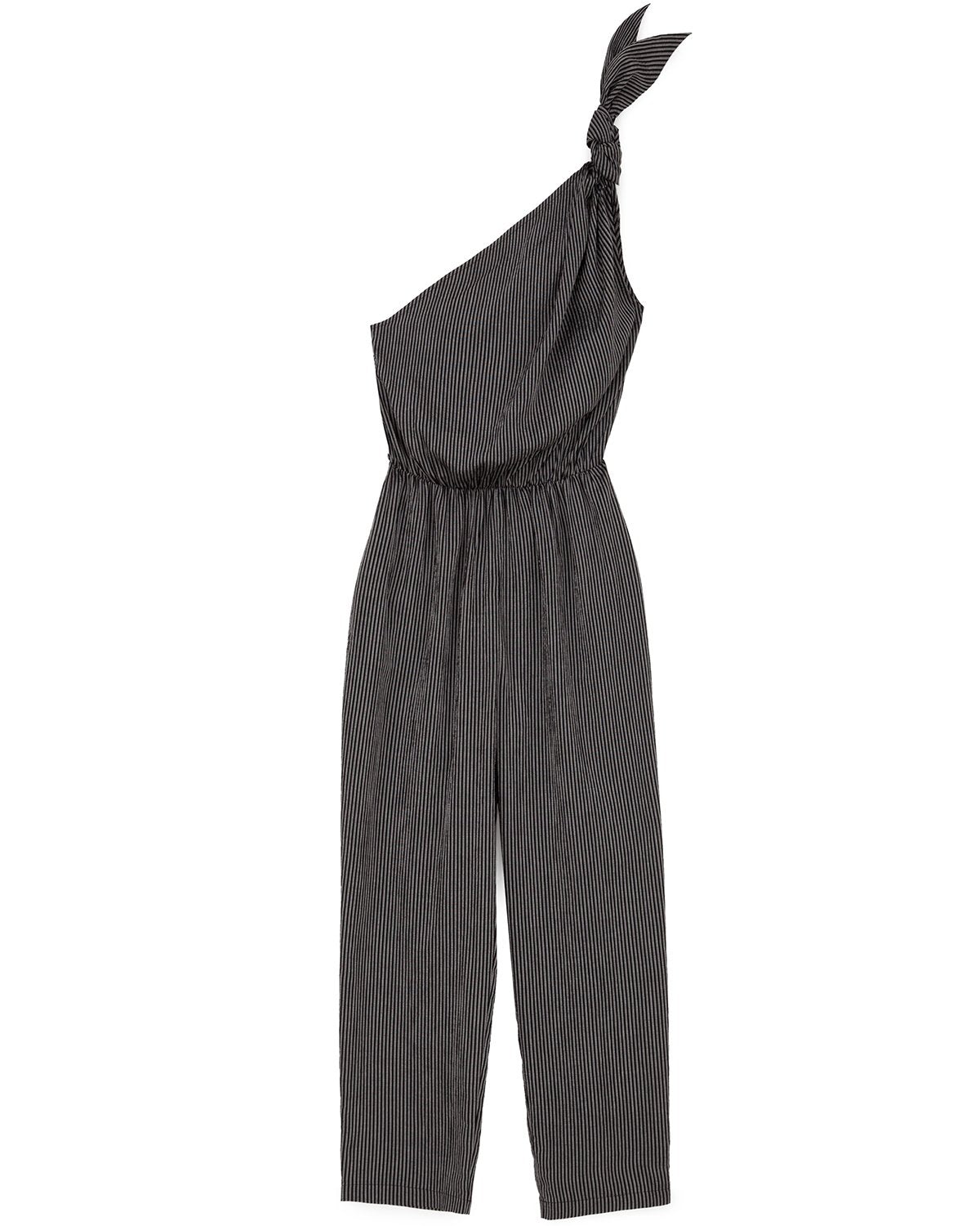 NYLA - Asymmetric one-piece jumpsuit - Black stripe