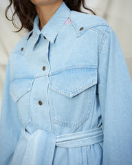 RASTA - Western denim jacket - Light blue