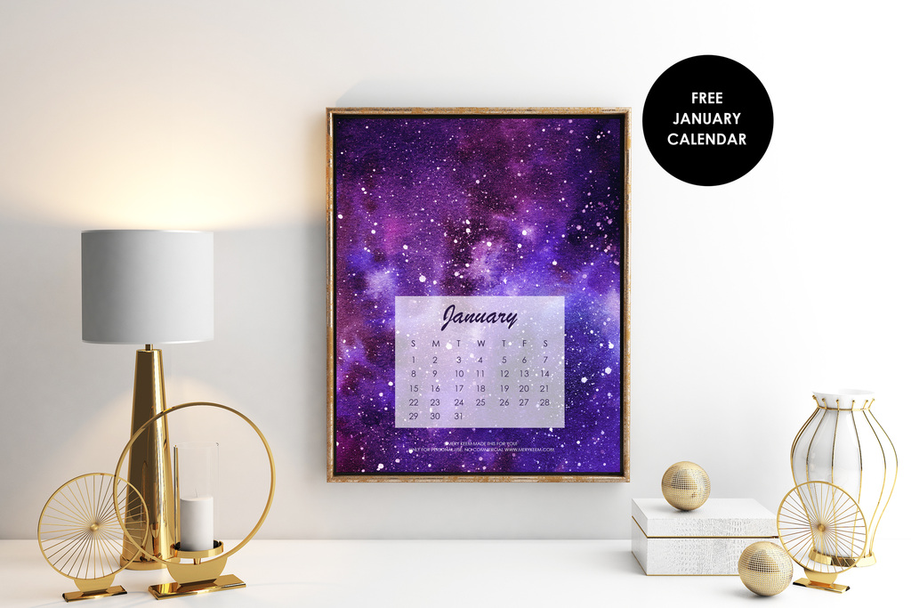 Download for free our January Calendar!