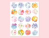 COLORFUL FLORAL CIRCLES PATTERN STICKERS