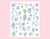 CACTUS AND SUCCULENT PLANTS STICKERS