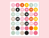 COLORFUL NUMBERS STICKERS