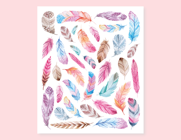 BEAUTIFUL FEATHERS STICKERS
