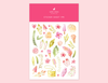 DELICATE WATERCOLOR FASHION STYLE STICKERS