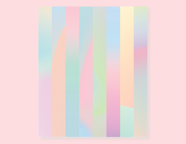 HOLOGRAPHIC GRADIENTS STRIPES STICKERS