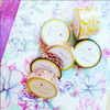 POLKA DOTS LIGHT BLUE AND GOLD FOIL WASHI TAPES