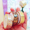CHRISTMAS DEER AND FALLING SNOW IN GOLD FOIL WASHI TAPES