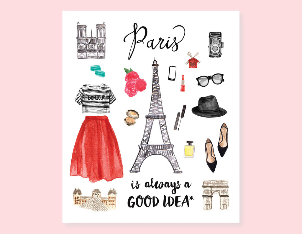 PARIS CITY GIRL STICKERS