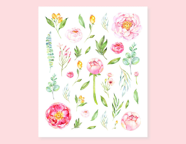 BLOOMING ROSES STICKERS
