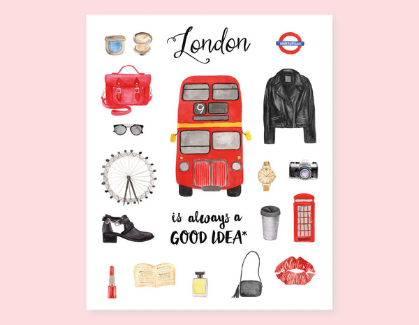 LONDON CITY GIRL STICKERS