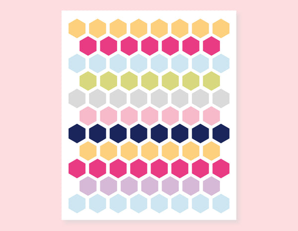 COLORFUL HEXIES STICKERS