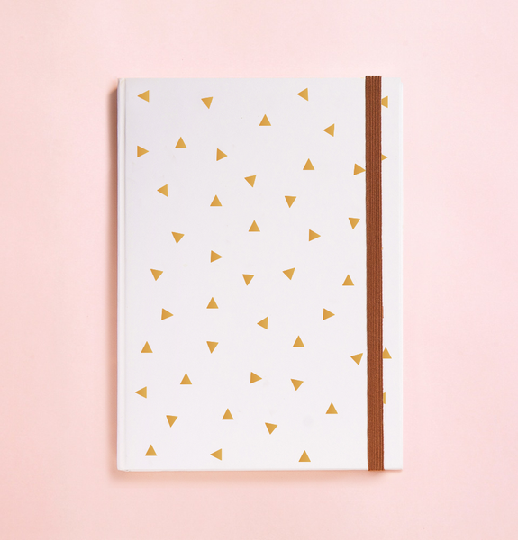 TRIANGLE GOLD FOIL IN WHITE JOURNAL (FREE SHIPPING)