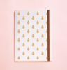 PINEAPPLE GOLD FOIL IN WHITE JOURNAL (FREE SHIPPING)