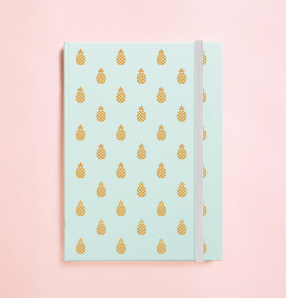 PINEAPPLE GOLD FOIL IN TEAL JOURNAL