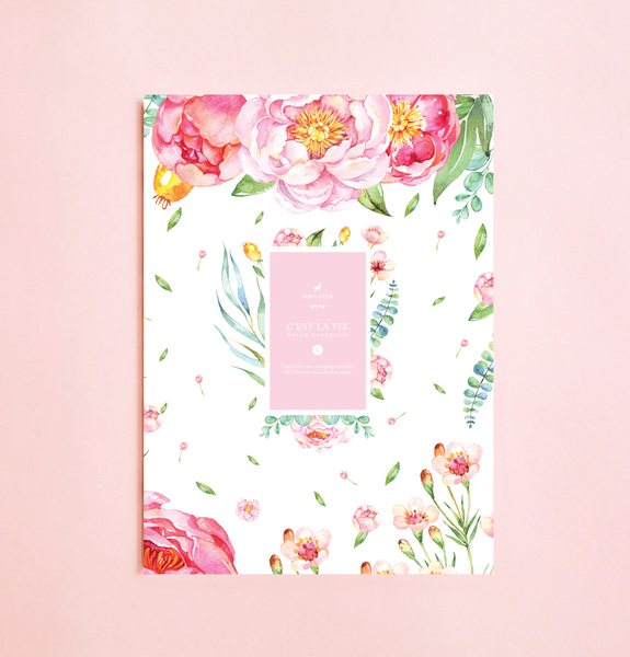 BEAUTIFUL BLOOMING ROSES NOTEBOOK