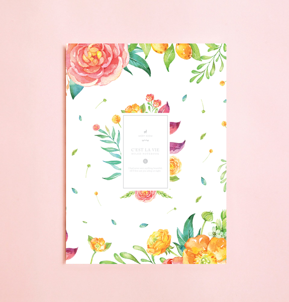 VINTAGE FLOURISH FLORAL NOTEBOOK