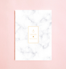 WHITE MARBLE PATTERN NOTEBOOK