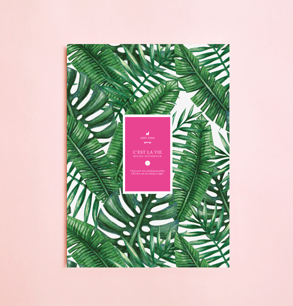 SUMMER PALM TREE NOTEBOOK