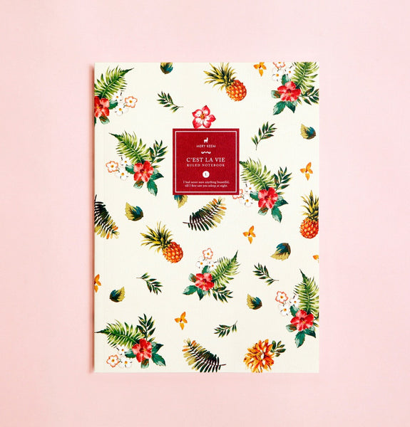 SUMMER TROPICAL PINEAPPLE NOTEBOOK