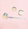 STRIPES SILVER FOIL WASHI TAPES