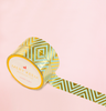 MINT CHEVRON IN GOLD FOIL WASHI TAPES