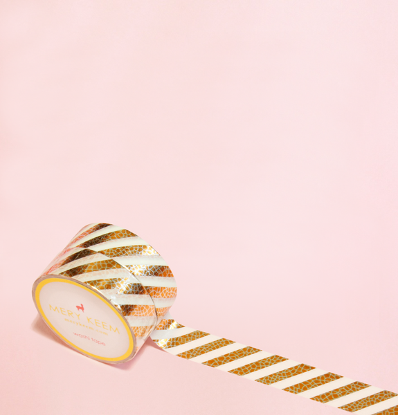 GOLD STRIPES WITH SPRINKLES WASHI TAPES