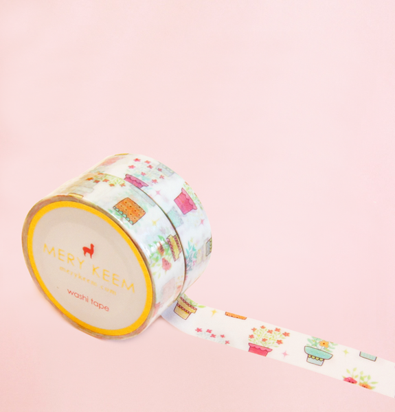 FLOWER POT WASHI TAPES