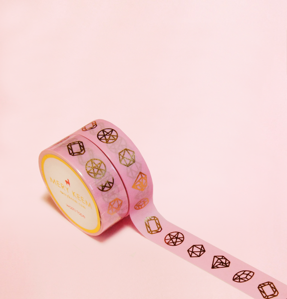 DIAMONDS SHAPES IN GOLD FOIL WASHI TAPES
