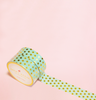 MINT WITH GOLD POLKA DOTS WASHI TAPES