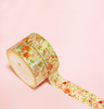 VINTAGE FLOWERS WITH GOLD ACCENT WASHI TAPES