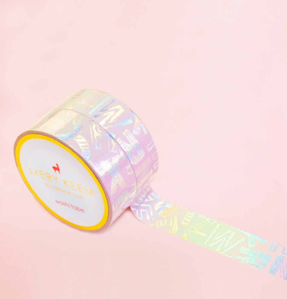HOLOGRAM LETTER PATTERN WASHI TAPES