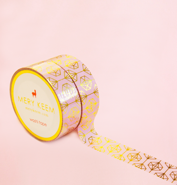 HEXAGON SHAPE IN GOLD FOIL WASHI TAPES
