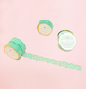 VINTAGE MINT LACE FLOWER WASHI TAPES
