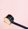 NAVY BLUE WITH GOLD DIAMONDS WASHI TAPES