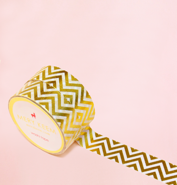 CHEVRON GOLD FOIL WASHI TAPES