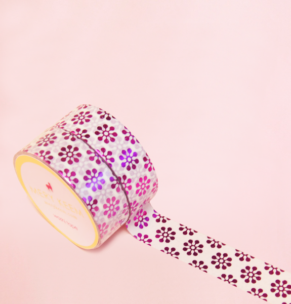 BLOOMING PINK FOIL WASHI TAPES