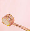 CORAL COLOR WITH GOLD POLKA DOTS WASHI TAPES