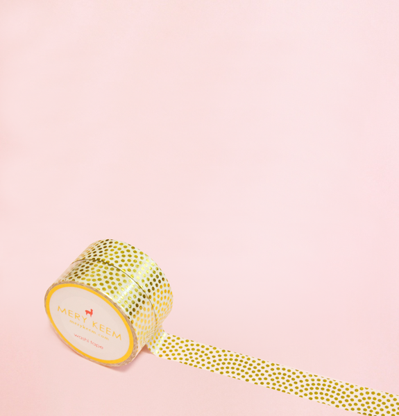 GOLD POLKA WASHI TAPES