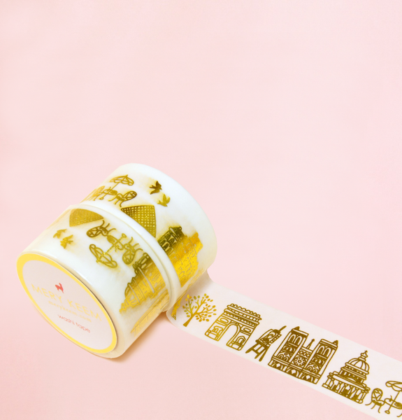 PARIS IN GOLD FOIL WASHI TAPES