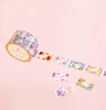 VINTAGE FLOWERS PERFORATED WASHI TAPES