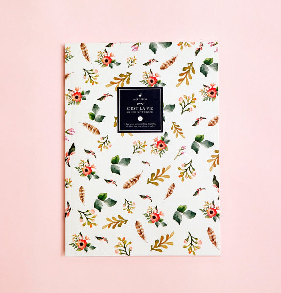 WATERCOLOR SPRING FLOWER NOTEBOOK